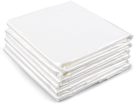 painters drop cloths u2013 6piece set of plastic drop cloths disposable sheet covers for painting interior decorating furniture protection craft projects
