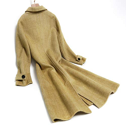 Lungo Face Di Cappotto Invernale Lana A Sciolto In Femminile E Autunnale Vintage Spina Sottile Double Pesce Yxxhm pEPwxqzp
