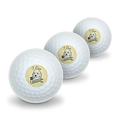I Love My Goldendoodle Novelty Golf Balls 3 Pack