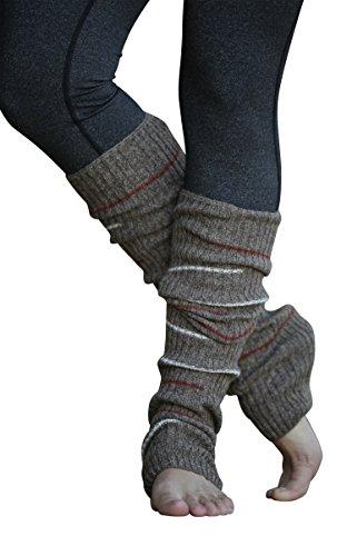 Lucky Love (TM) Striped Multicolor Reversible Knit Leg Warmers (Brown Small (Wide Stripe Leg Warmers)