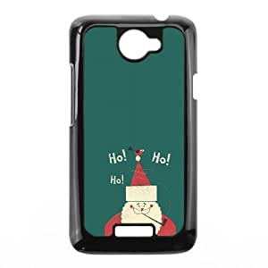 Santa Claus Merry Christmas 2013 Flat HTC One X Cell Phone Case Black&Phone Accessory STC_170216