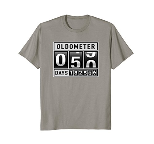 Mens OLDOMETER 50 Years Old T-Shirt Made In 1968 50th Birthday Large Slate 50 Year Old T-shirt