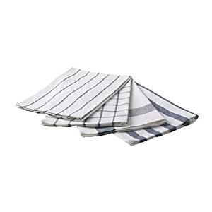 IKEA ELLY White & Blue Dish Towels (Set of 4)