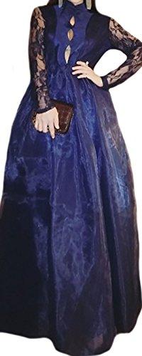 erdbeerloft - Vestido - globo - Opaco - para mujer azul oscuro