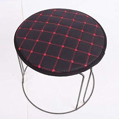 Soft Round Cushion Cotton Fabric Bar Stool Hair Salon Seat Chair Cushions Anti Slip Student Chair Cushion,Plaid Purple,Diameter 35Cm: Kitchen & Dining