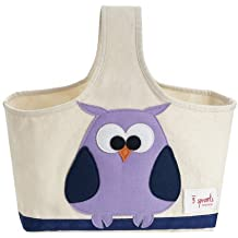 3 Sprouts Original Organic Caddy - Owl/Purple
