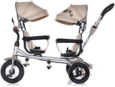 Chipolino Tricycle Dreirad 2Play Zwei Kinder bis 50 kg Luftreifen Lenkstange Farbe:beige