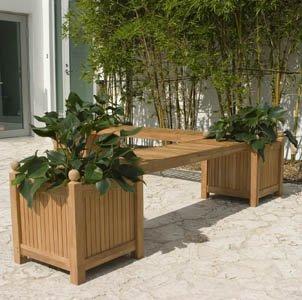Teak Planter Bench Seat