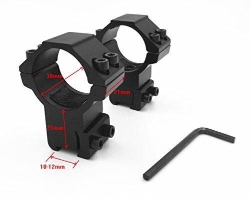 Airgun Rings w/Stop Pin High Profile 2 pcs/30mm