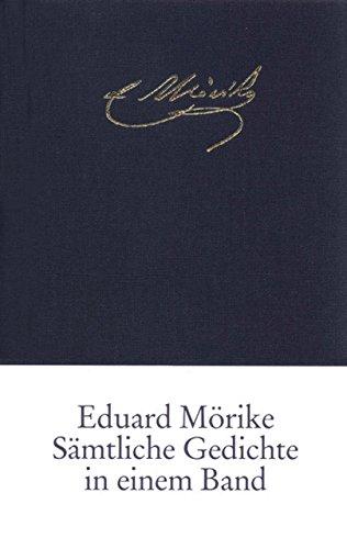 Sämtliche Gedichte in einem Band Taschenbuch – 3. September 2001 Bernhard Zeller Eduard Mörike Insel Verlag 3458170804
