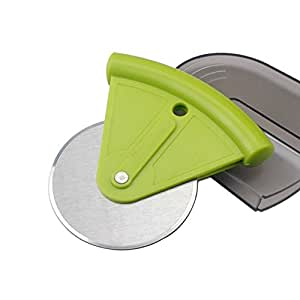 Good Grips Pizza Wheel and Cutter,Set of 2 Green Color Pizza Cutter