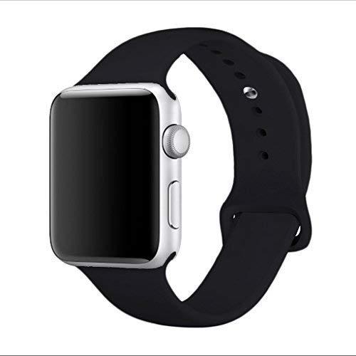 Banda para Apple Watch Series 338mm 42mm, yimzen iWatch correa de silicona suave Reemplazo de Banda Sport Band para...
