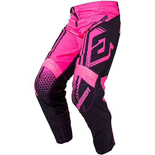 Answer Racing A19 Syncron Drift Women's Off-Road Motorcycle Pants - Flo Pink/Black / 7/8