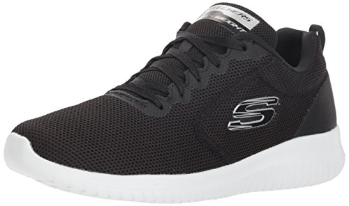 (Skechers Women's Ultra Flex-Free Spirits Trainers, Black (Black/White BKW), 8 M US)