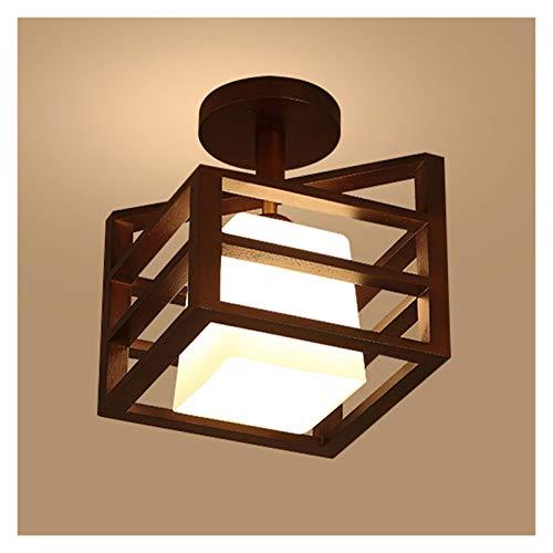 PULLEY Houten Plafondlamp met Base Heldere Plafondlamp Inbouw Plafondlamp Boerderij Verlichtingsarmaturen voor Keuken…