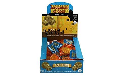 Kosher Nut-Free Milk Chocolate Coins Box of 24 .50 oz (14g) each, Total WT 12 oz(336g)