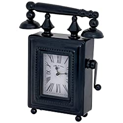 Ashton Sutton Phone Shaped Metal Case Table Clock