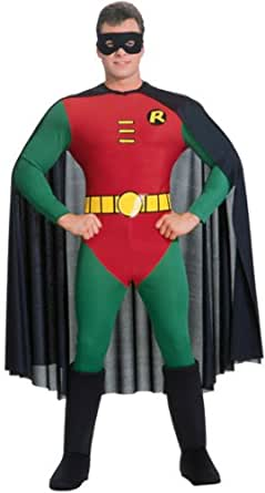 ROBIN DELUXE ADULT COSTUME, ALL, MEDIUM