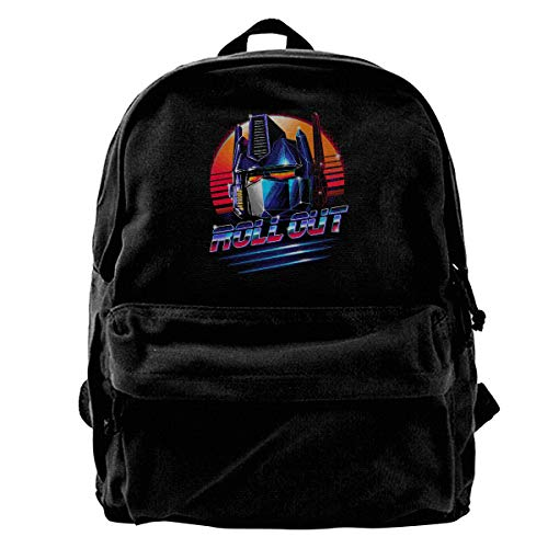 WUHONZS Canvas Backpack Trans-formers Optimus Prime Roll Out