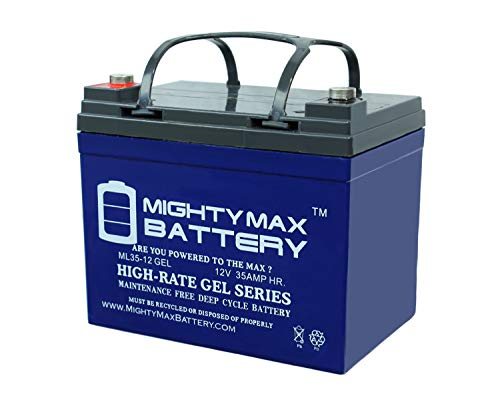 Batteries Golf Cart Gel - Mighty Max Battery 12V 35AH Gel Replacement Battery for Deep Cycle Solar 33Ah, 34Ah, 36Ah Brand Product