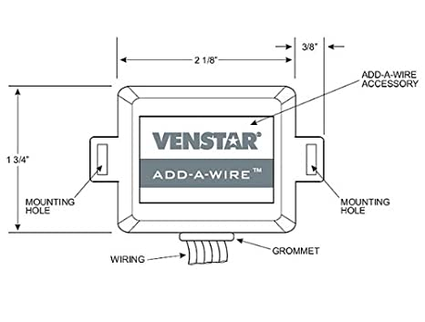 41LBQbwhV4L._SX466_ venstar acc0410 add a wire accessory for all 24 vac thermostats (4 venstar add a wire diagram at eliteediting.co