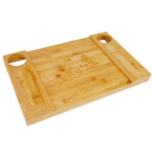 DEKDEJA Bamboo Kitchen Cutting Cheese Board Set,Charcuterie Plate & Serving Tray of Wine, Crackers,Fancy Wedding & House Warming Gift -