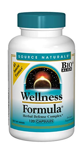 Source Naturals Wellness Formula Bio-Aligned Vitamins & Herbal Defense For Immune System Support – Dietary Supplement & Immunity Booster – 120 Capsules