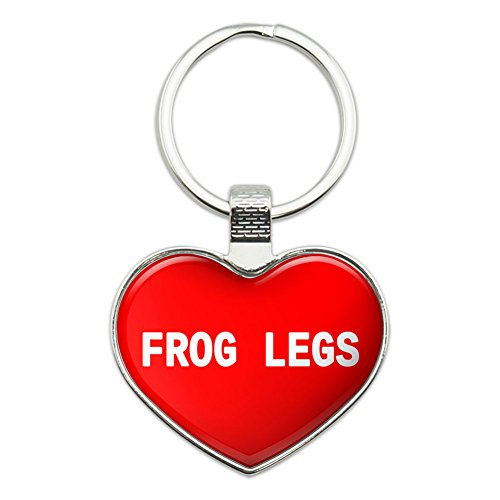 Metal Keychain Key Chain Ring I Love Heart Food D-G - Frog Legs (Frog Keychain Metal)