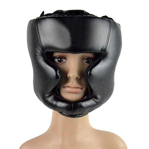 Headgear Head Guard Training Helmet Kick Boxing Protect Gear Black