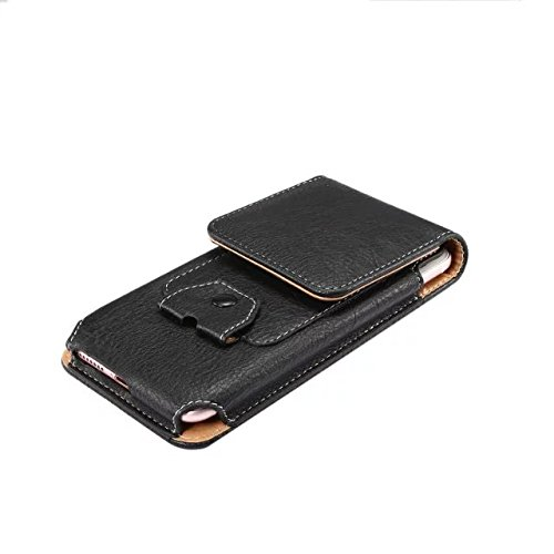 PU Leather Vertical Case Belt Holster Pouch for Motorola Moto G5 Plus / Moto Z Play / Samsung Galaxy S8 / S7 Edge / Huawei P10 / LG K7 (2017) / LG K10 (Black)