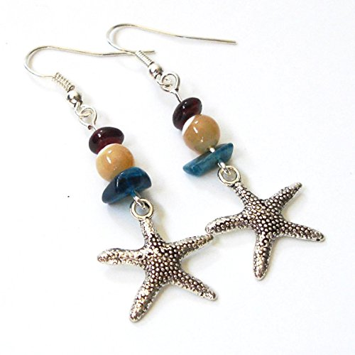 Gemstone Starfish Silver tone - Fun January Holidays