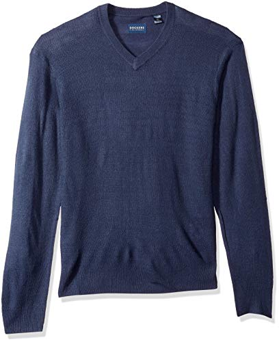 Dockers Men's Soft Acrylic V-Neck Long Sleeve Sweater, Ottoman, XXL ()