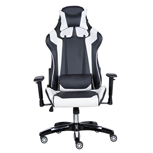 41LBSWTr8GL - Black-with-White-Stripes-Racer-Computer-Gaming-and-Office-Chair-Adjustable-Width-Back-and-Neck-Pillow-Height-Adjustment