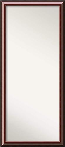 Amanti Art Full Length Mirror | Cambridge Mahogany Mirror Full Length | Solid Wood Full Body Mirror | Floor Length Mirror 28.38 x 64.38 in.