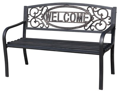 Four Seasons Courtyard, ''Welcome'' Steel Park Bench by Four Seasons Courtyard