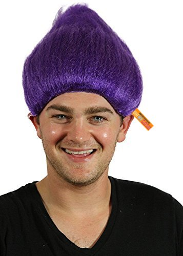 Troll Wig - #1 Quality Colorful Troll Costume Hair - 5 Colors Available - Cosplay Troll Wig (Purple)