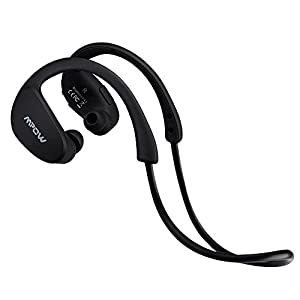 Mpow Cheetah Bluetooth Headphones, Sport Wireless Earbuds w/Aptx Sound, IPX5 Waterproof&8 Hrs Playtime, V4.1 Wireless Sport Headphones, Behind-Ear Running Headset w/CVC6.0 Noise Cancelling Mic,Black