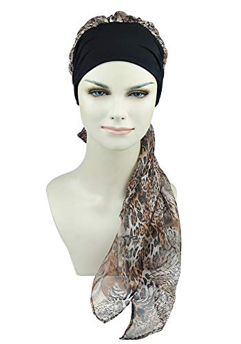 FocusCare Ladies Chemo Turban Hats Beanie Scarf Cancer Headwear for Hair Loss Patients - High Quality Headcovers