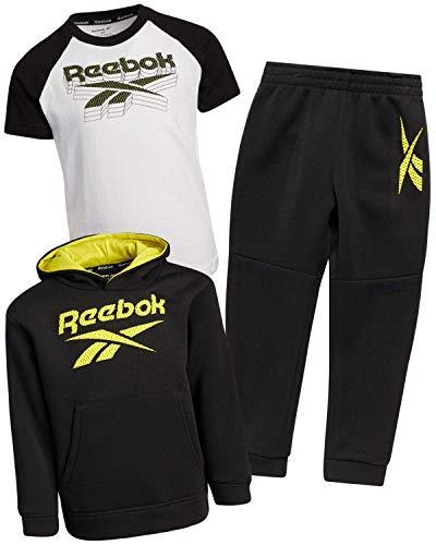 Reebok Little Boys' Jogger Set - Zip Hoodie, T-Shirt, and Jogger Sweatpants (Infant/Toddler)