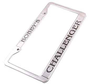 GP Personalized License Plate Holder Customzied Engraved Stainless Frame with Screws for Your Custom Car