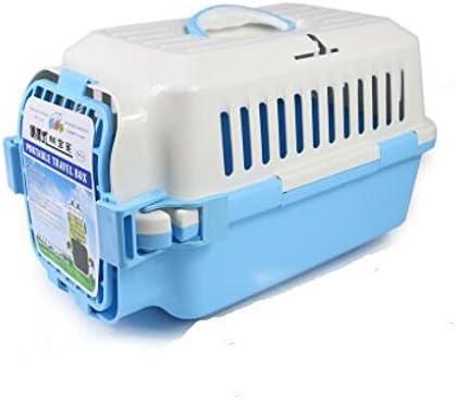 CTZLL PET Airways envío jaulas gato jaulas perro caja perro maleta jaula del animal doméstico fuera de caja , blue