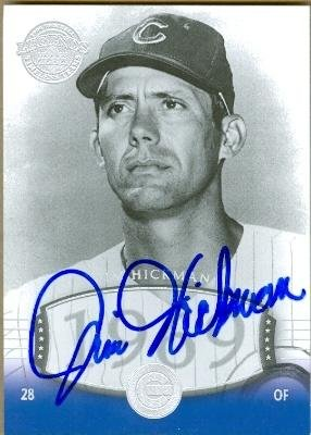 Jim Hickman autographed Baseball Card (1969 Chicago Cubs) 2004 Upper Deck #54 Timeless Teams - Autographed Baseball Cards Autographed 1969 Team Mlb Baseball