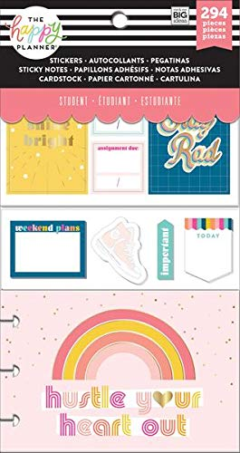 Amazon com : Happy Planner Accessory Pack, Student Stay Rad