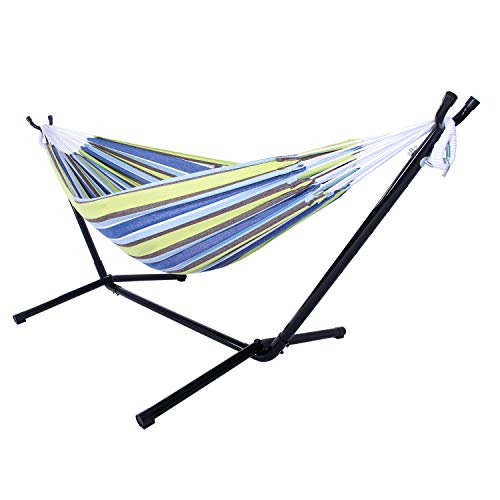 ock Stand Portable Hammock Stand Heavy Duty Steel Standfor Outdoor Patio Or Indoor with Carrying Case for Backpacking, Camping, Travel, Beach, Yard(with Hammock Stand) ()
