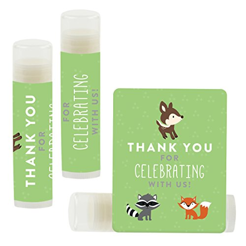 Andaz Press Lip Balm Birthday Party Favors, Thank You for Celebrating with Us, Woodland Animals Fox and Deer, 12-Pack, Cinco de Mayo Mexican Fiesta Themed Decor