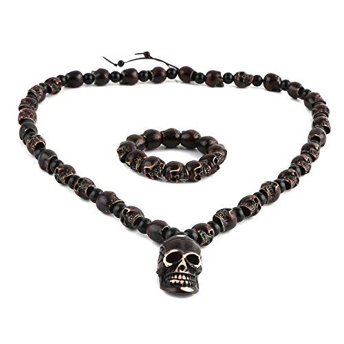 skull bracelet chain punk men jewelry - 8