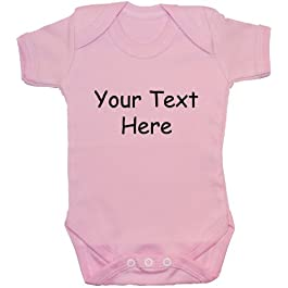 Bespoke Personalised Design Your Own Wording Baby Bodysuit/Romper/Vest/T-Shirt 0 to 24 Months