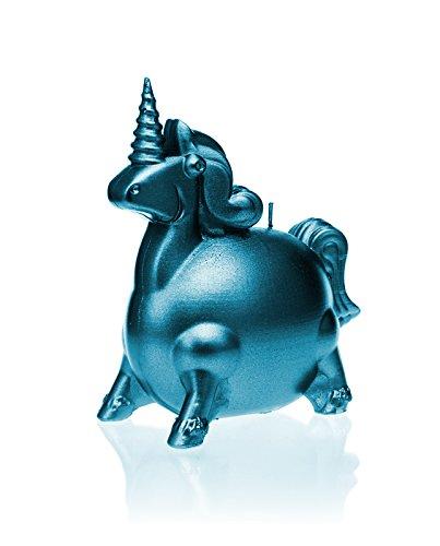 Candellana Candles Candellana-Unicorn Candle, Blue Metallic ()
