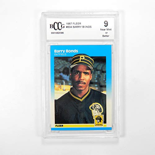 (1987 Fleer Barry Bonds #604 Pittsburgh Pirates BCCG 9)