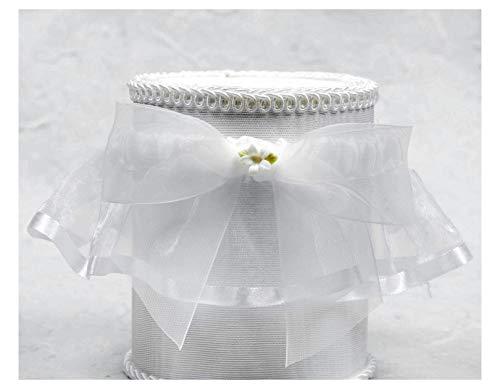 (Porcelain Stephanotis Bouquet Wedding Garter: Garter Color: Ivory)